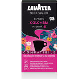 Nespresso Compatible Lavazza Colombia Coffee Capsules (10 Packs of 10)
