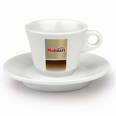 Molinari Caffe Latte Porcelain Cup Set 280ml