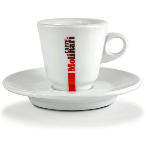 Molinari Espresso Porcelain 6 Cups & Saucers set (80ml)