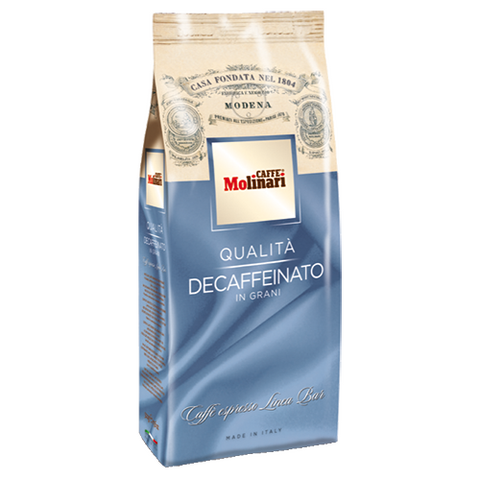 Molinari Decaffeinated Coffee Beans 500g (10 Packs of 500g)