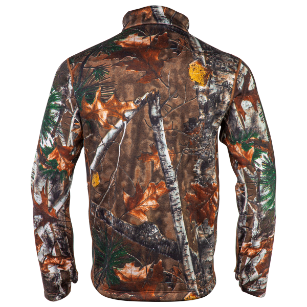 Men's Heavy-Weight Camo Mock-Zip