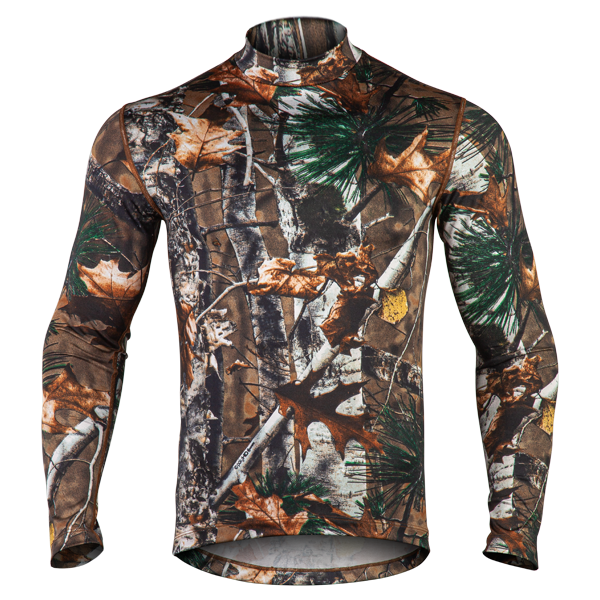 Men's Mid-Weight Camo Mock Neck