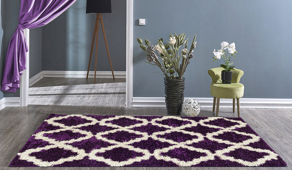 Adgo Chester Collection Lila and White Area Rug