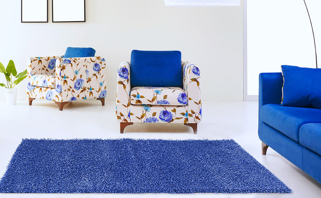 Adgo Chester Collection Blue Area Rug