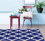 Adgo Chester Collection Navy and White Area Rug