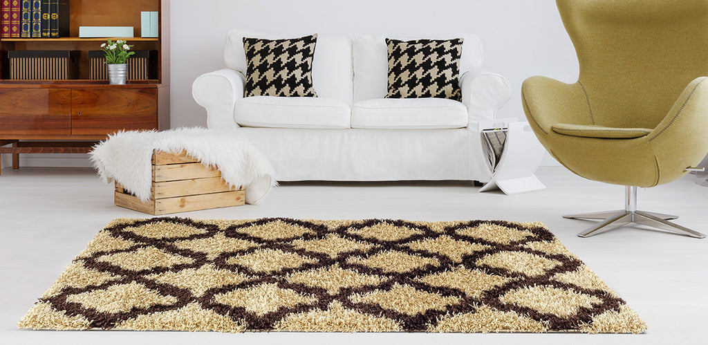 Adgo Chester Collection Champagne and Brown Area Rug