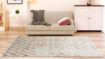 Adgo Ibiza Collection Modern Contemporary Live Multicolor Design Jute Backed Area Rugs Tall Pile Height Well Spaced Soft and Fluffy Indoor Floor Rug