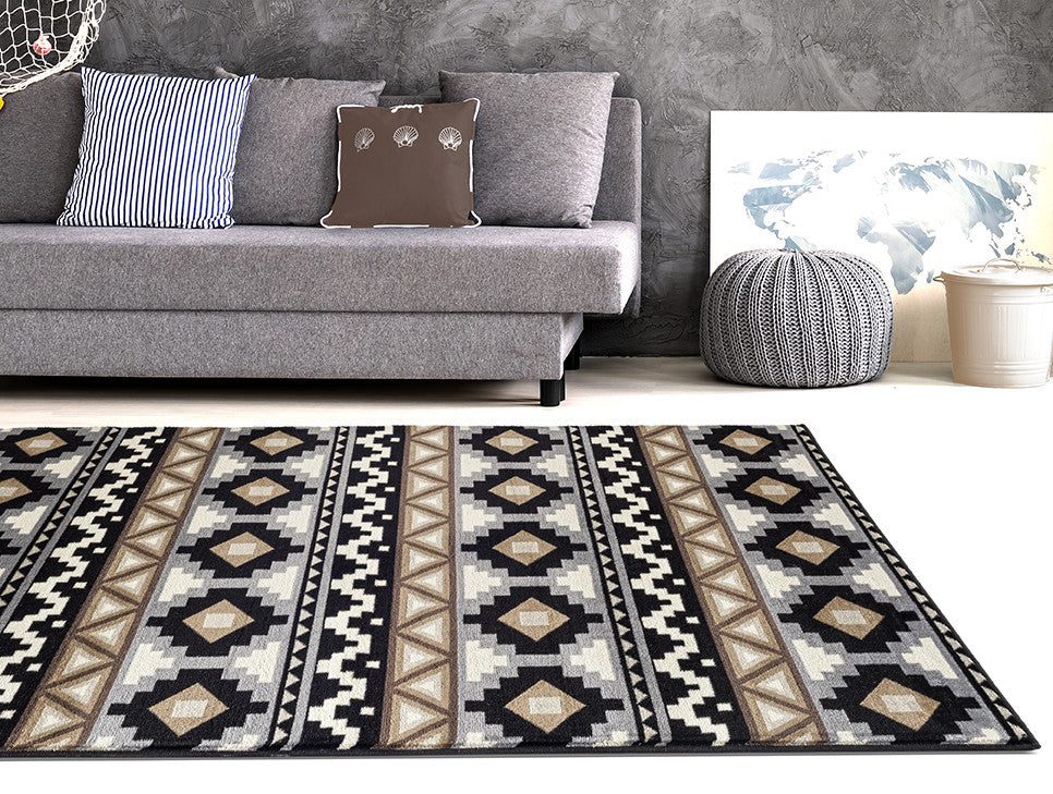 Adgo Medeo Collection Multicolor Area Rug