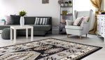 Adgo Medeo Collection Grey and Black Multicolor Area Rug