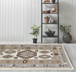 Adgo Medeo Collection Grey and Cream Multicolor Area Rug
