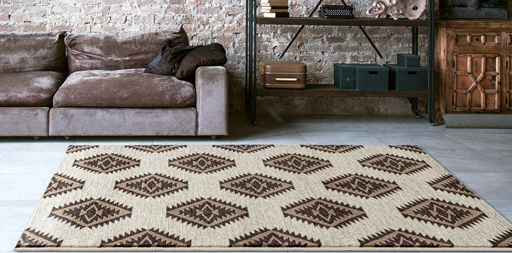 Adgo Medeo Collection Cream Multicolor Area Rug