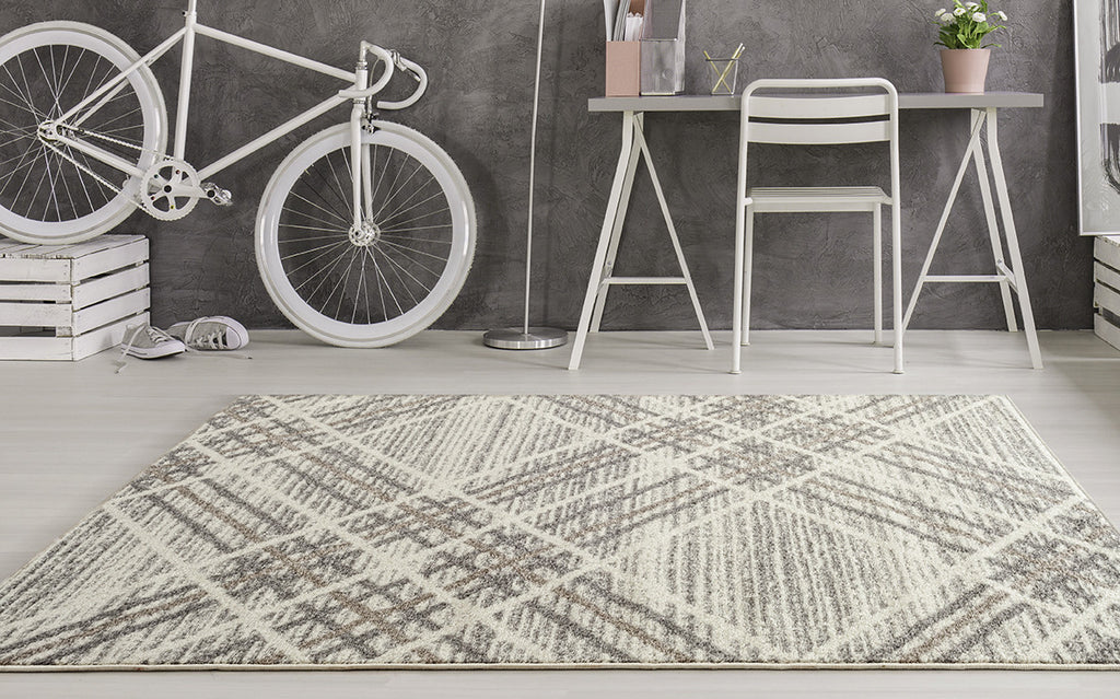 Adgo Milano Collection Gardenia Frost Gray Area Rug