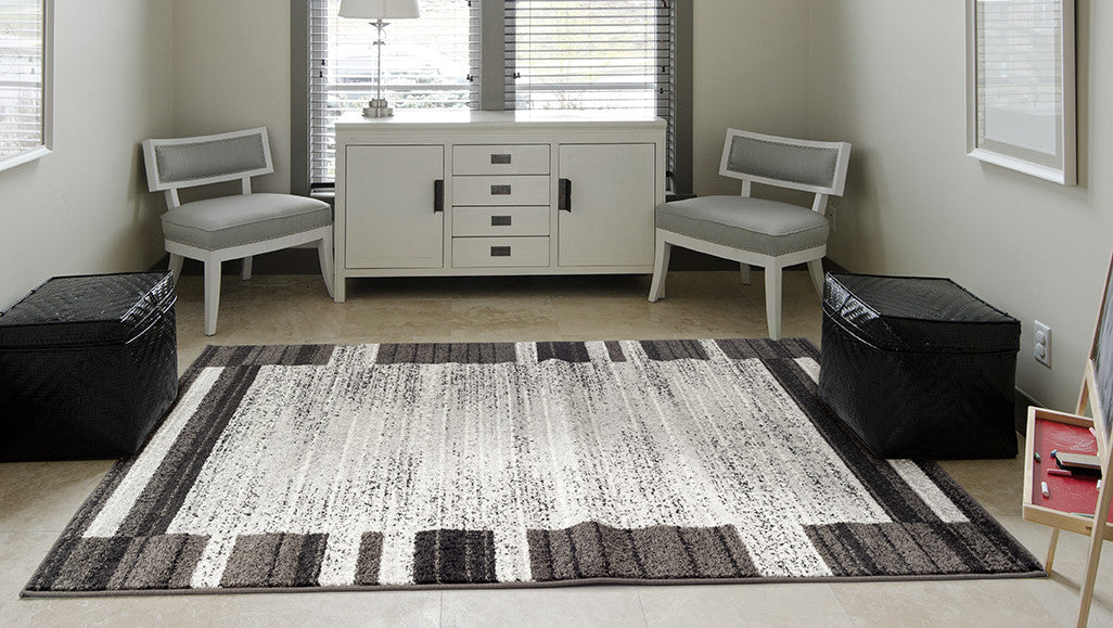 Adgo Milano Collection Magnet Jet Black Area Rug Adgo Rugs