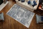 Adgo Milano Collection Gardenia Silver Blue Area Rug