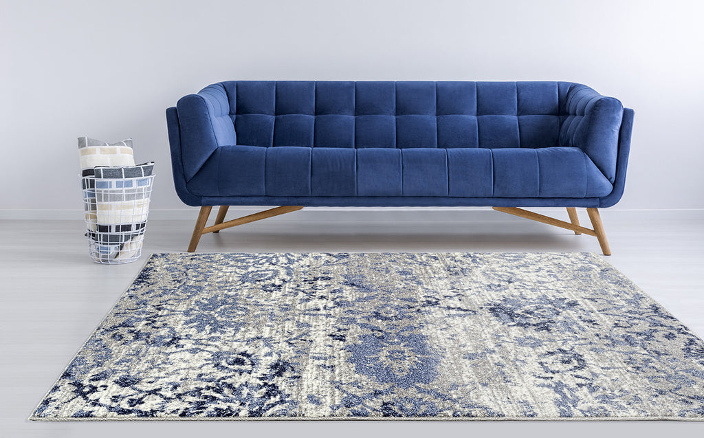 Adgo Ravenna Collection L. Grey and L. Blue Area Rug