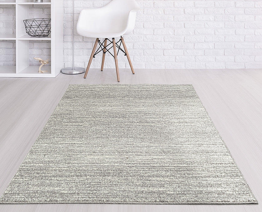 Adgo Ravenna Collection L. Grey and White Area Rug