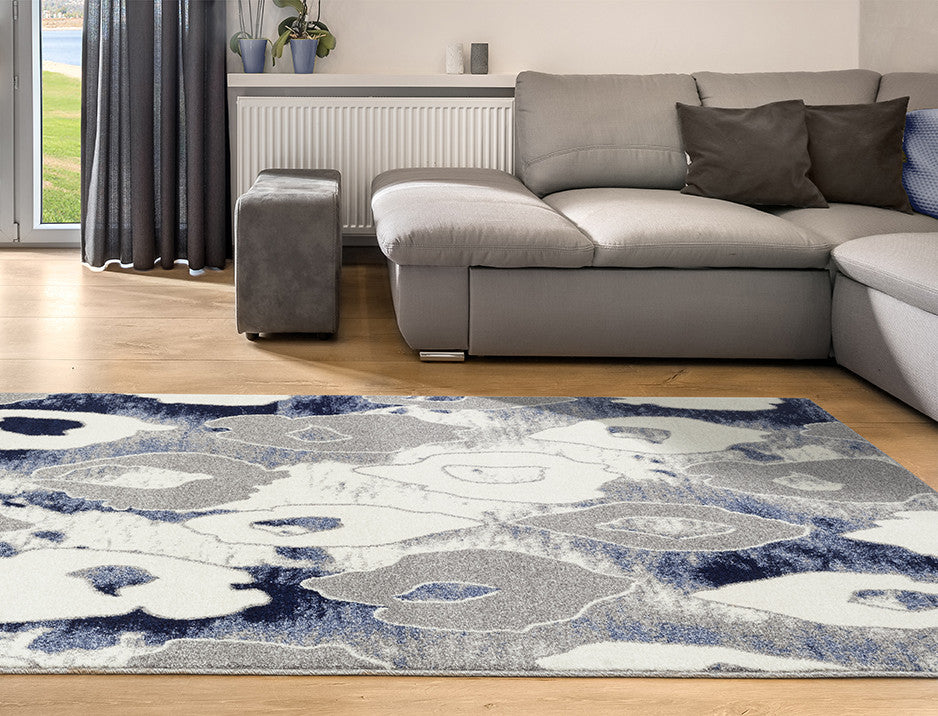 Adgo Ravenna Collection L. Blue and L. Grey Area Rug