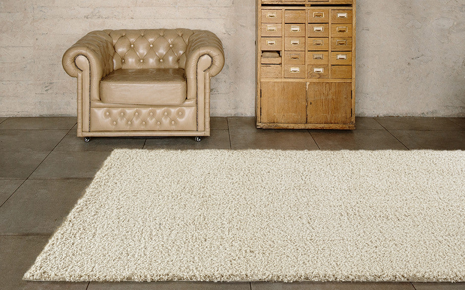Adgo Vernazza Collection Modern Contemporary Live Beige Design Jute Backed Area Rugs Tall Pile Height Well Spaced Soft and Fluffy Indoor Floor Rug