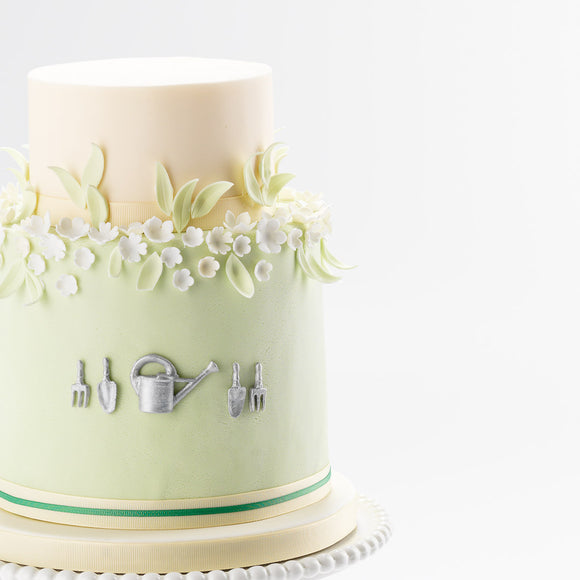 The Gardener | Two Tier Fondant Iced Cake
