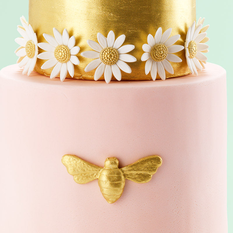 The Bee | Two Tier Fondant Iced Cake