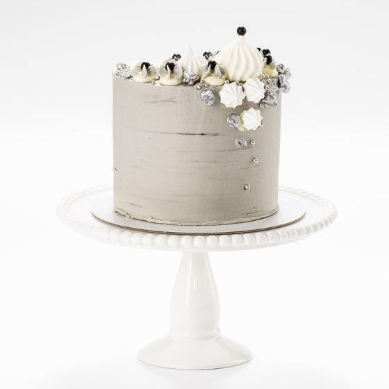 Grey Sky At Night Buttercream Iced Cake