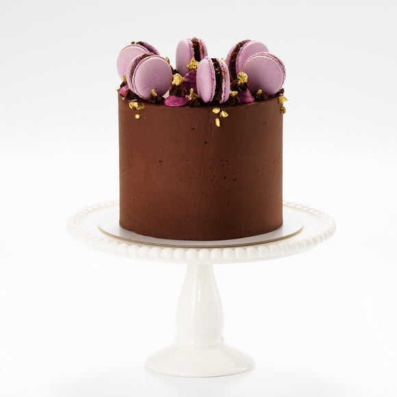 The Macaron Crown Buttercream Iced Cake