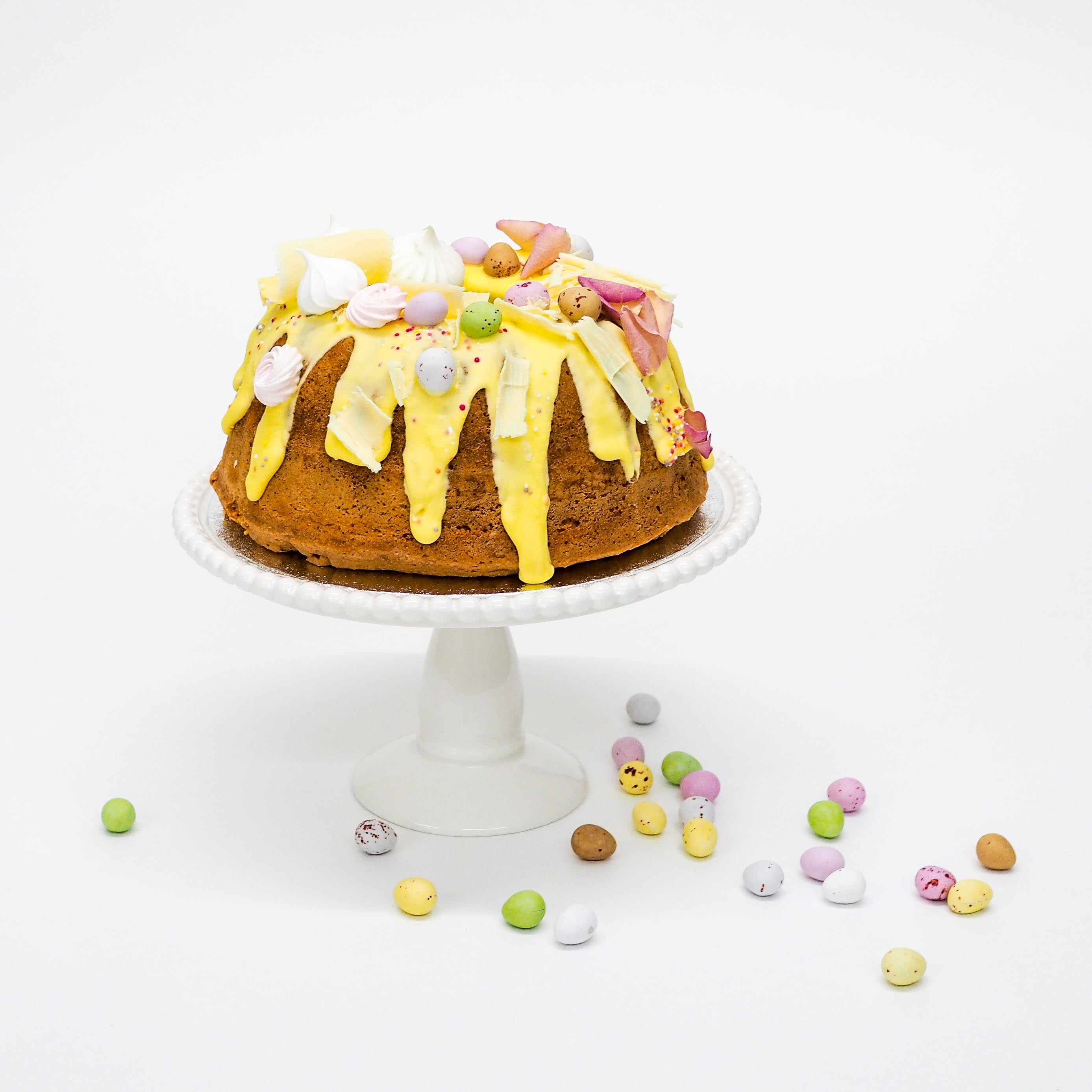 Lemon Drizzle Easter Bundt Cake Confection By Rosalind Miller