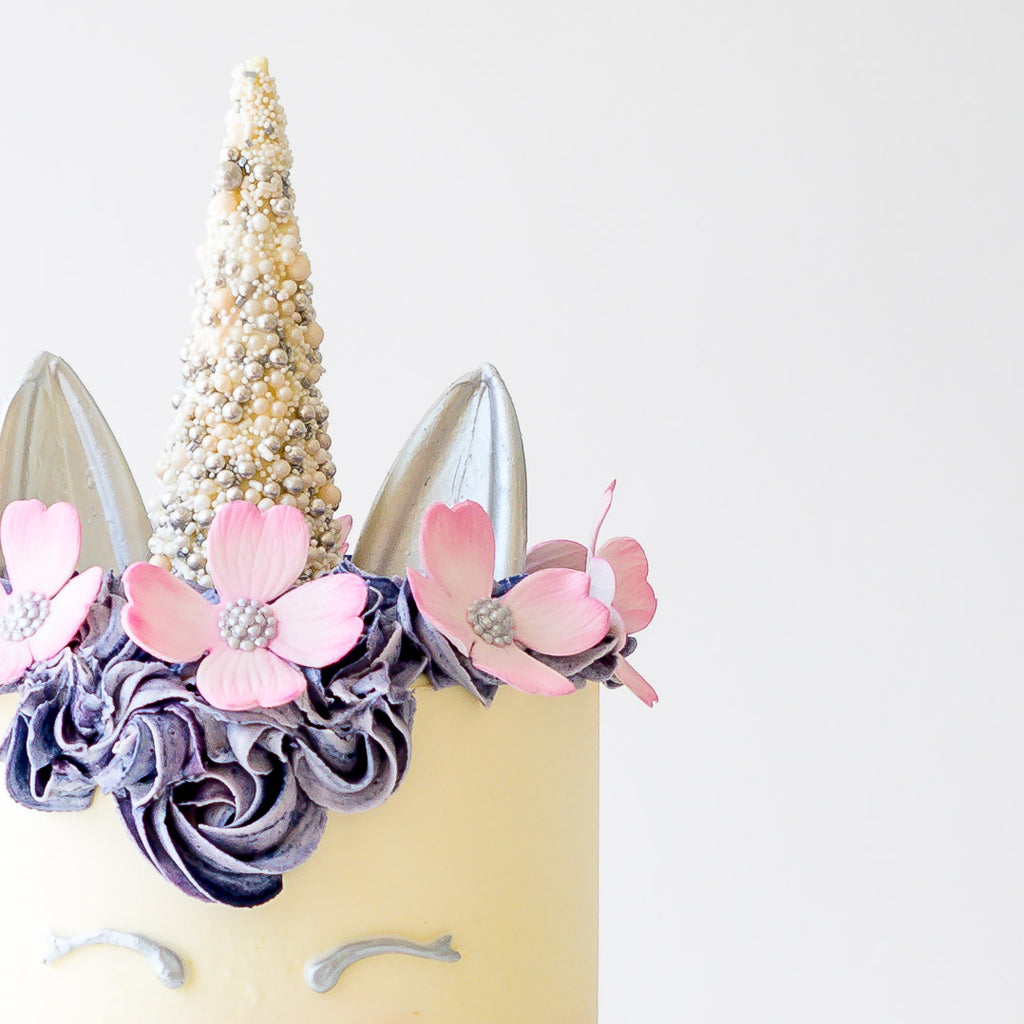 The Unicorn | Buttercream Iced Cake with Sugar Flowers