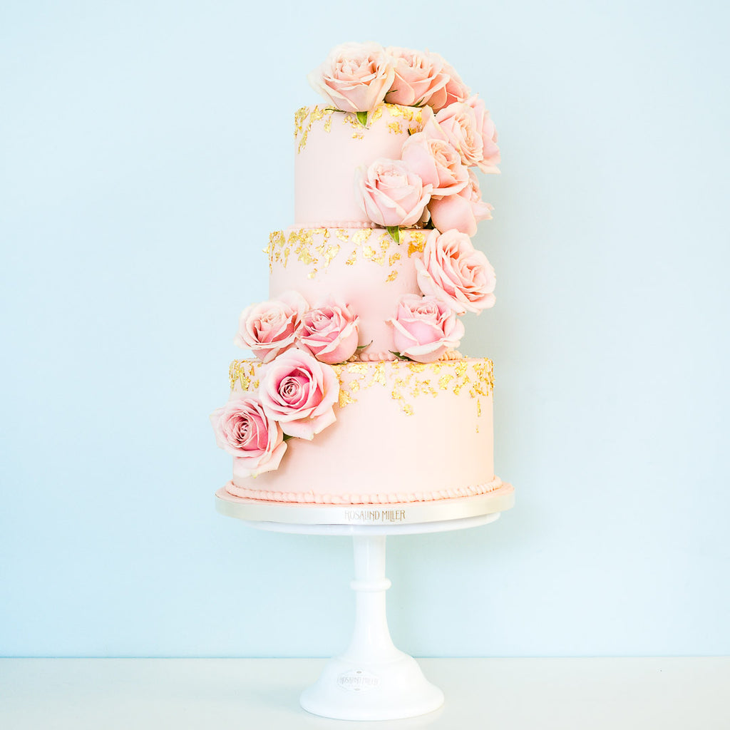 Garden Rose Three Tier Buttercream Cake