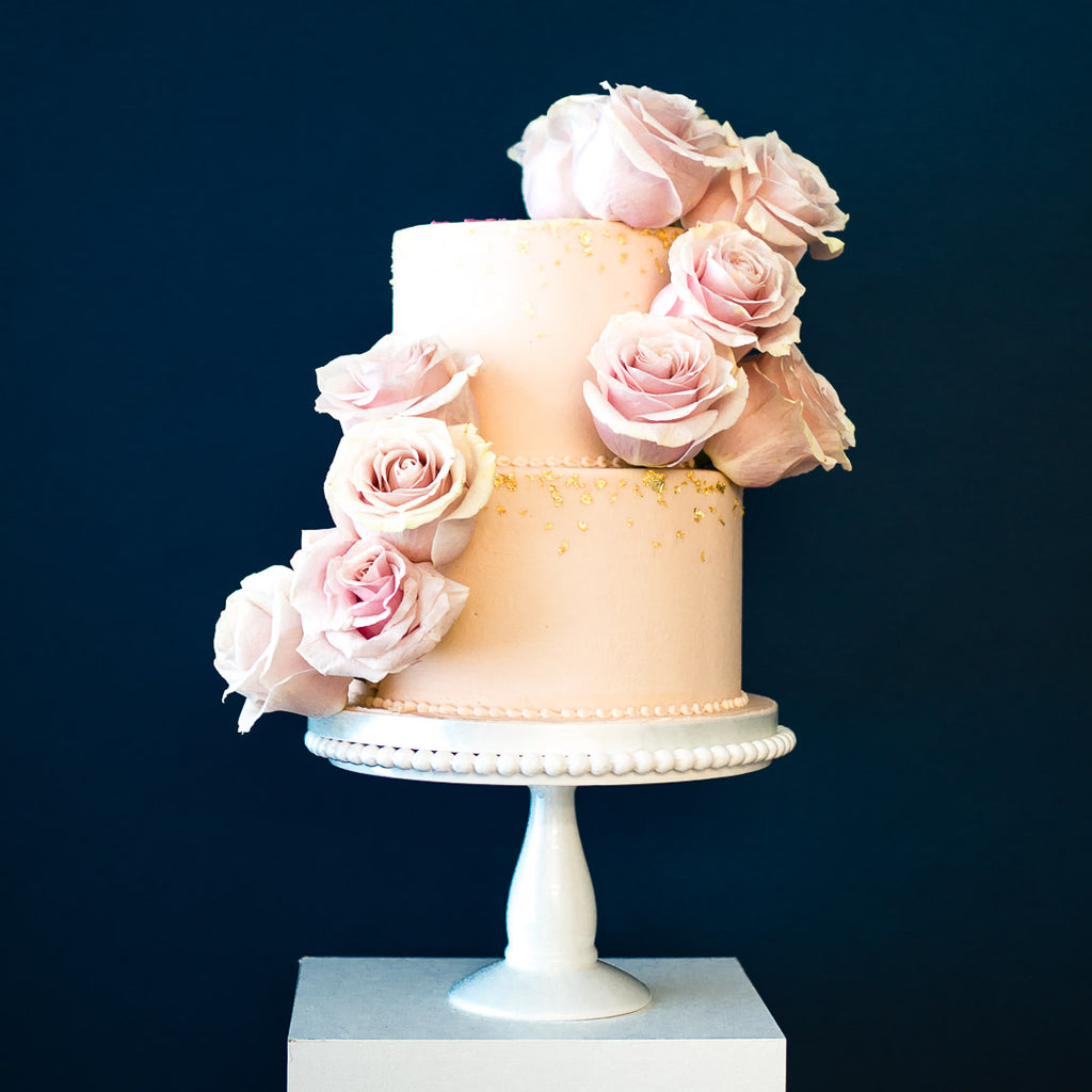 Garden Rose Two Tier Buttercream Cake