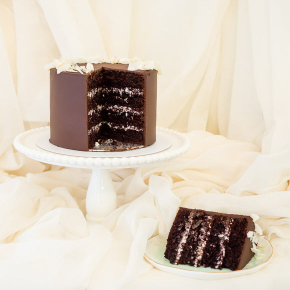 Chocolate and Coconut Vegan Cake