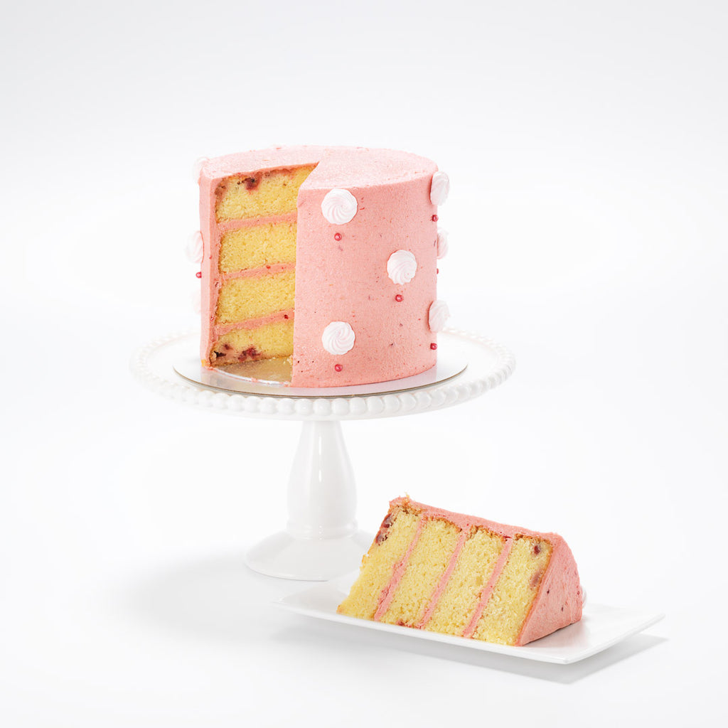 Pink Polka Dots | Buttercream Iced Cake