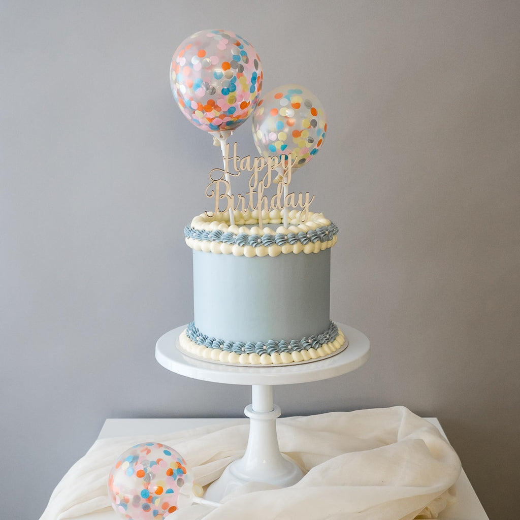 Pastel Dreams in Blue | Buttercream Iced Cake