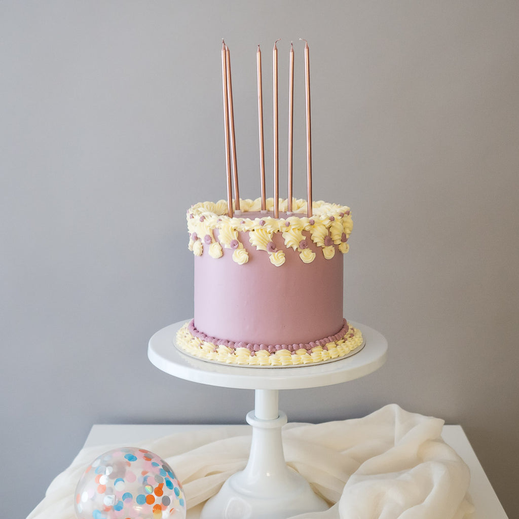 Pastel Dreams in Lilac | Buttercream Iced Cake