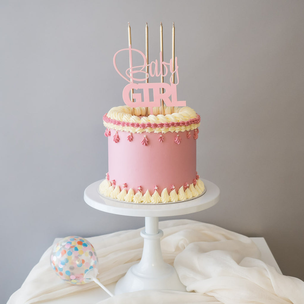 Pastel Dreams in Pink | Buttercream Iced Cake