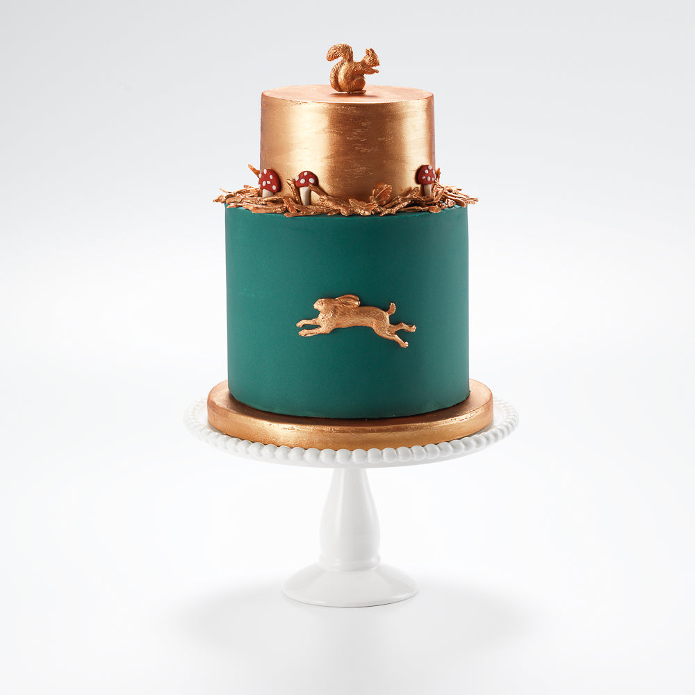 Strange The Hare Two Tier Fondant Iced Cake Confection By Rosalind Miller Funny Birthday Cards Online Unhofree Goldxyz