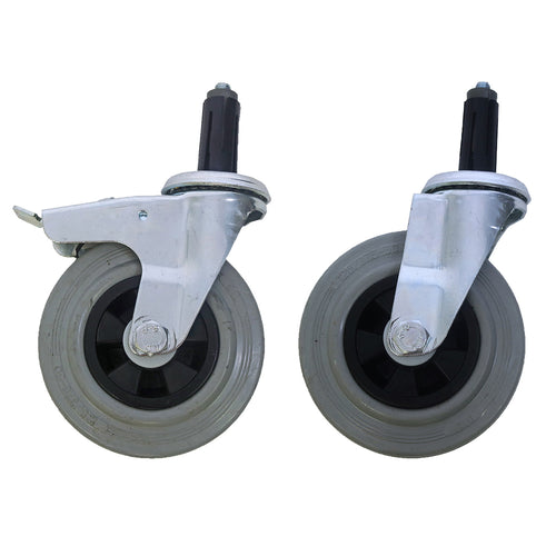 125mm Rubber Castor Set (4 Castors)