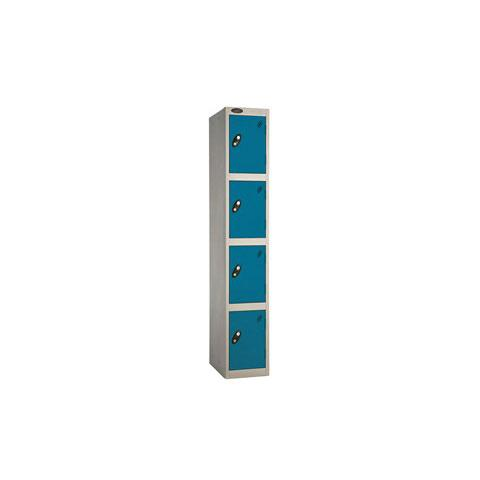 4 Door Flat Top Full Height Steel Locker