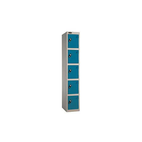 5 Door Flat Top Full Height Steel Locker