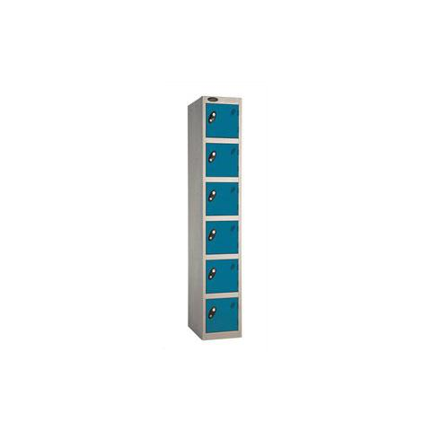 6 Door Flat Top Full Height Steel Locker