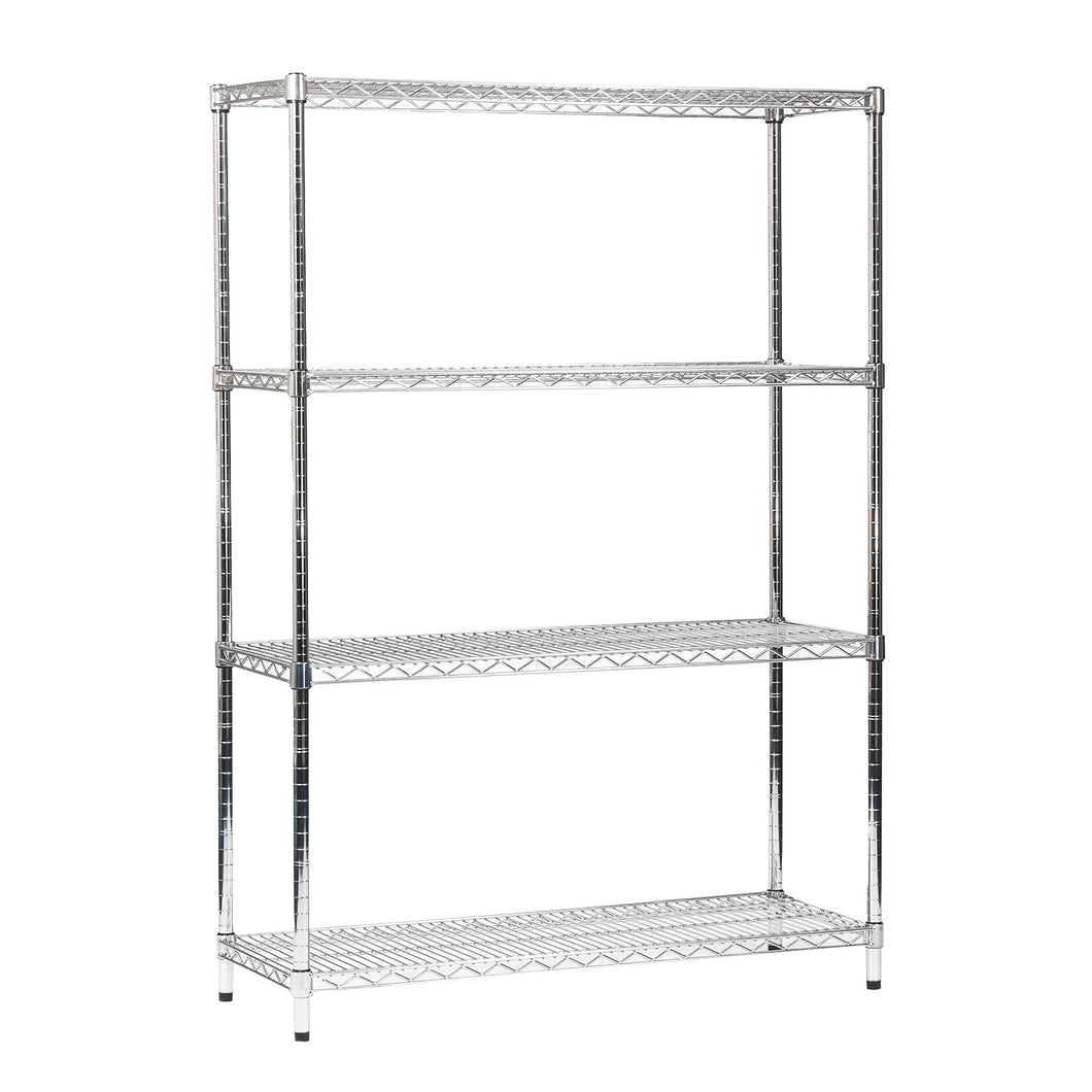 Chrome Wire 4 Tier Chrome Wire Shelving Unit 1800mm High