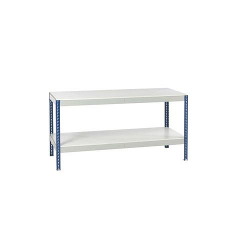 Stockrax Workbench With Full Lower Shelf - Melamine Faced Chipboard Deck