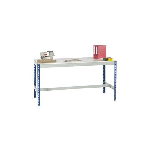 Stockrax Workbench With T-Bar - Melamine Faced Chipboard Deck
