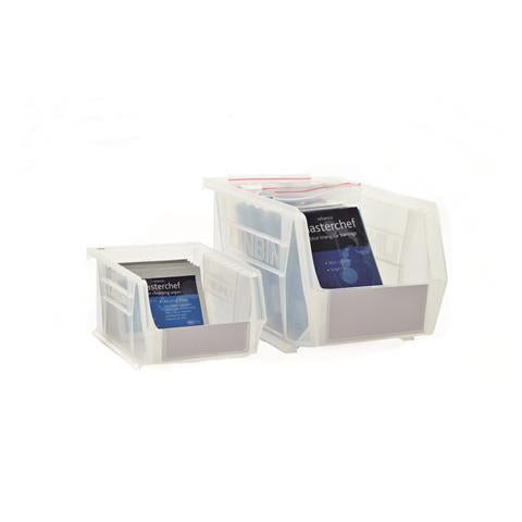 Size 4 Anti-Bacterial Clear Linbins - Pack Of 10