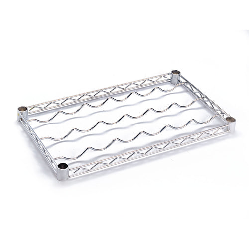 Chrome Wire Bottle Rack (Single Shelf)