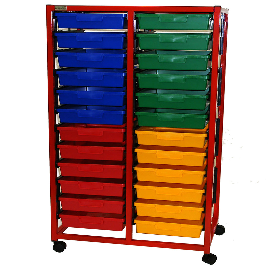 Double Column 12 Level A4 Classroom Trolley