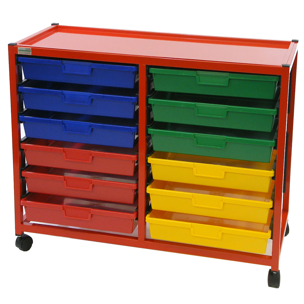 Double Column 6 Level A4 Classroom Trolley