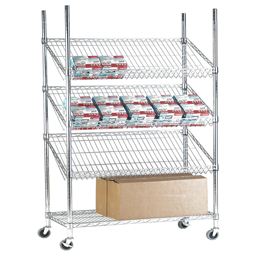 Chrome Wire Display Shelving