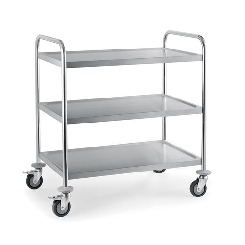 3 Tier Stainless Steel Serving / Clearing / Catering Trolley