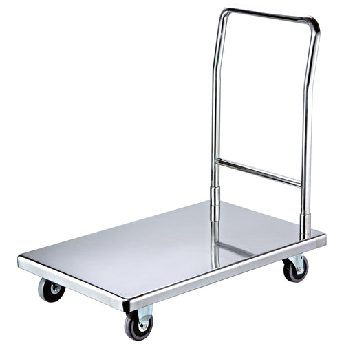 Flat Bed Self Assembly Stainless Steel Platform Trolley
